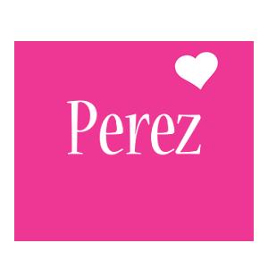 Perez love-heart logo