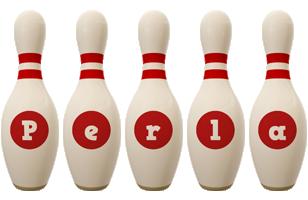 Perla bowling-pin logo