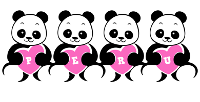 Peru love-panda logo