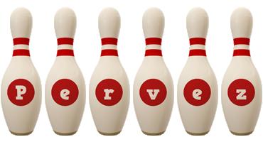 Pervez bowling-pin logo