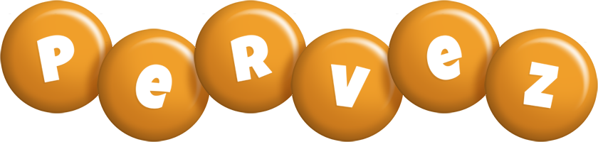 Pervez candy-orange logo