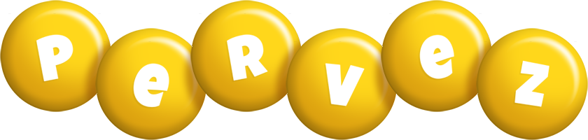 Pervez candy-yellow logo
