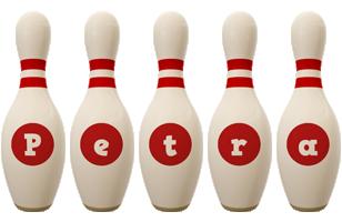 Petra bowling-pin logo