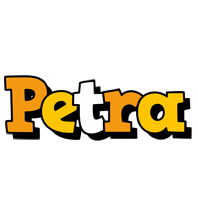 Petra cartoon logo