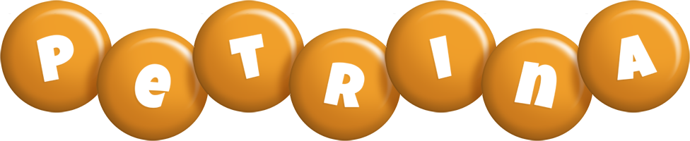 Petrina candy-orange logo