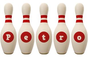 Petro bowling-pin logo