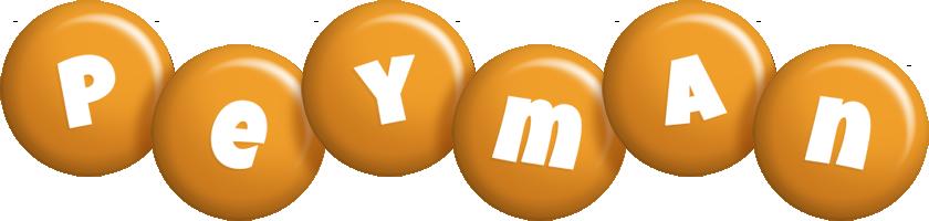 Peyman candy-orange logo