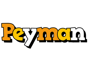 Peyman cartoon logo