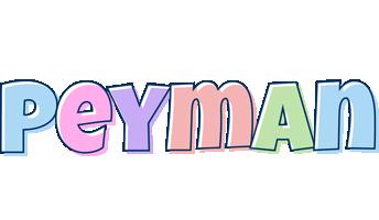Peyman pastel logo