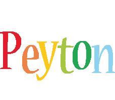 Peyton birthday logo