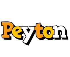 Peyton cartoon logo