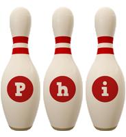 Phi bowling-pin logo