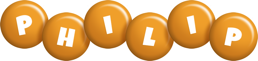 Philip candy-orange logo