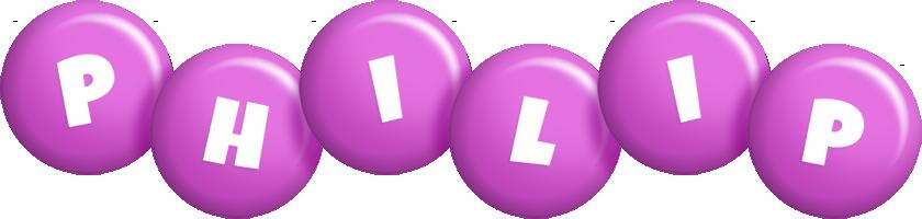 Philip candy-purple logo