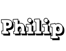 Philip snowing logo