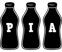 Pia bottle logo