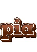 Pia brownie logo