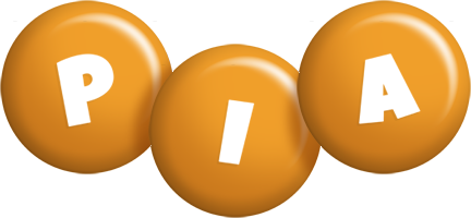 Pia candy-orange logo