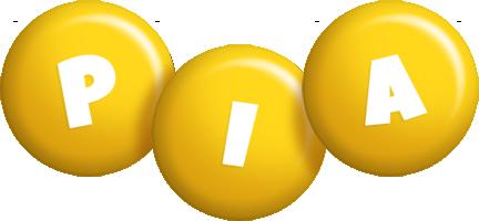 Pia candy-yellow logo