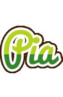 Pia golfing logo