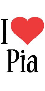 Pia i-love logo