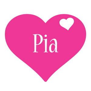 Pia love-heart logo