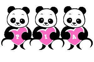 Pia love-panda logo