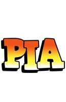 Pia sunset logo