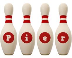 Pier bowling-pin logo