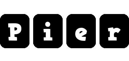 Pier box logo