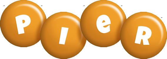 Pier candy-orange logo