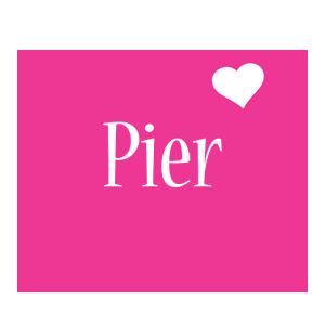 Pier love-heart logo