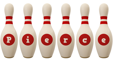 Pierce bowling-pin logo