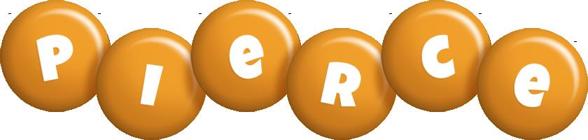 Pierce candy-orange logo