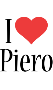 Piero i-love logo