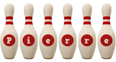 Pierre bowling-pin logo