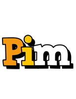 Pim cartoon logo