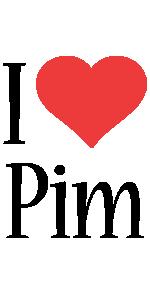 Pim i-love logo
