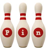 Pin bowling-pin logo