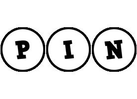 Pin handy logo