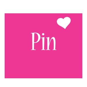 Pin love-heart logo