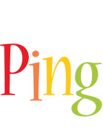 Ping birthday logo