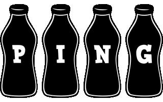 Ping bottle logo