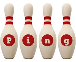 Ping bowling-pin logo