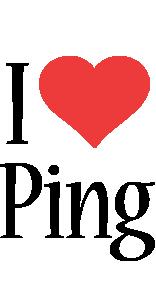 Ping i-love logo