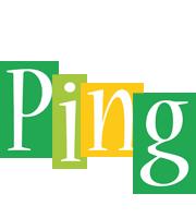 Ping lemonade logo