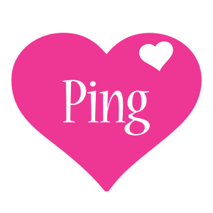 Ping love-heart logo