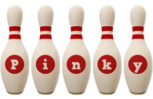 Pinky bowling-pin logo