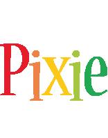 Pixie birthday logo