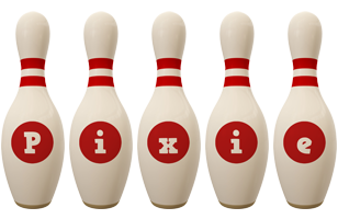Pixie bowling-pin logo